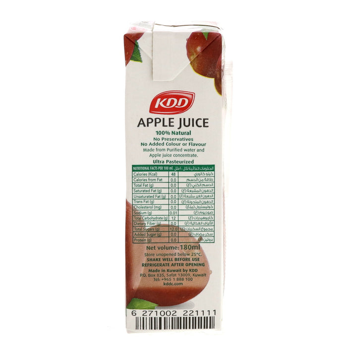 KDD Apple Juice 180ml x 6pcs - Talabac