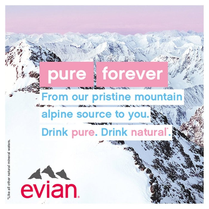 Evian Still Mineral Water 6 x 500ml