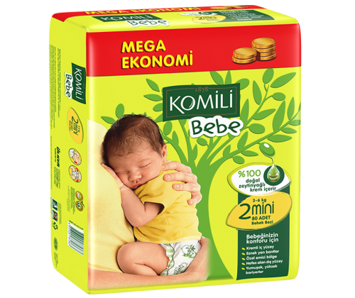 KOMILI - Size 2 Large 3-6 KG 72 nappies (Made in Turkey) - Talabac