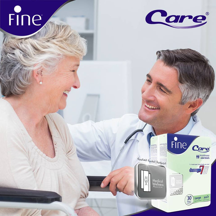 Fine Care - Incontinence Unisex Briefs - Medium - Waist (75-110 cm) - Pack of 22 - Talabac