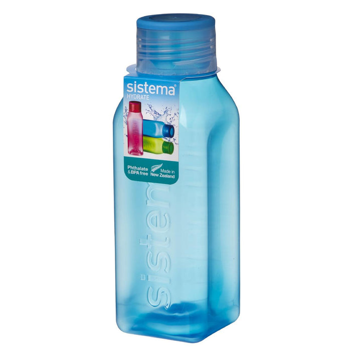 Sistema Retro Square Water Bottle, 1 L Blue - Talabac