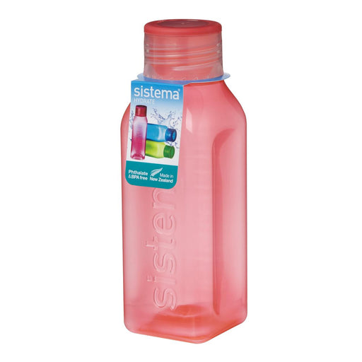 Sistema Retro Square Water Bottle, 1 L Pink - Talabac