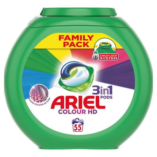 Ariel 3in1 Pods Washing Capsules Colour & Style 55 per pack