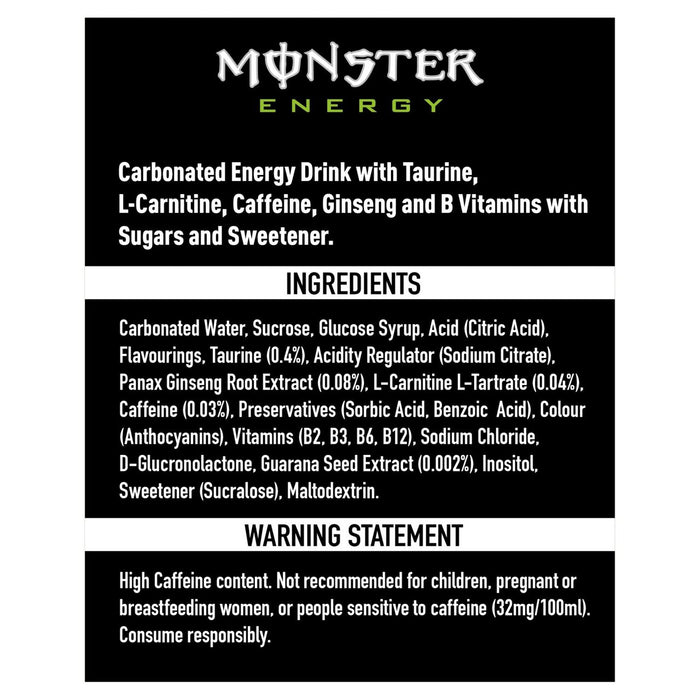Monster Energy 12 X 335ml - Talabac