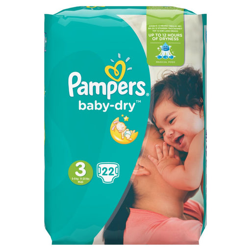 Pampers baby-dry Size 3, 4-9 kg, 22 Count (Made in Britain)
