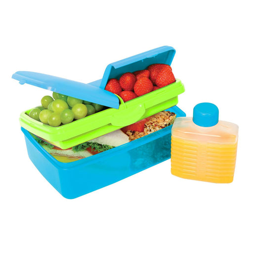 Sistema Slimline Quaddie Coloured Lunch Box 1.5L Blue - Talabac