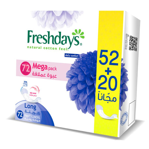 Freshdays Daily Liners Normal Scented 52+20 Pads FREE - Talabac