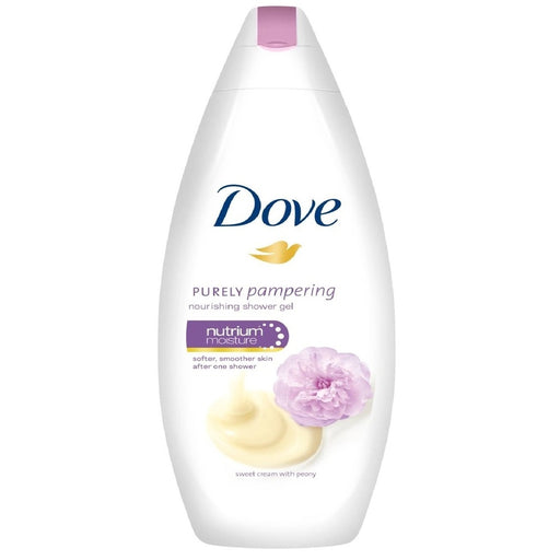 Dove Purely Pampering Nourshing Body Wash, Sweet Cream & Peony 500ml (Made in Britain)