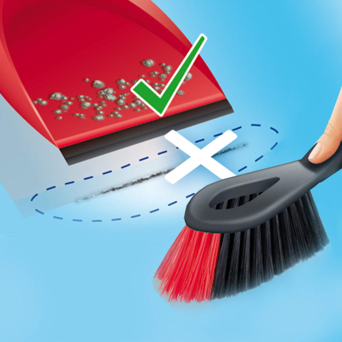 Vileda Dustpan Set 2 In 1 Red - Talabac