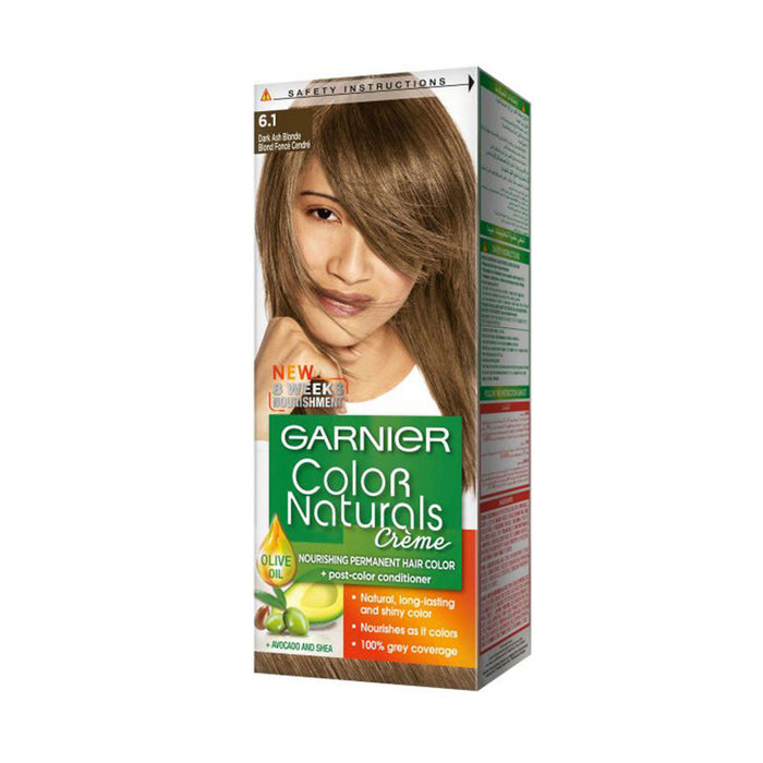 Garnier Nourishing  Permanent Hair Color Dark Ash  Blonde 6.1