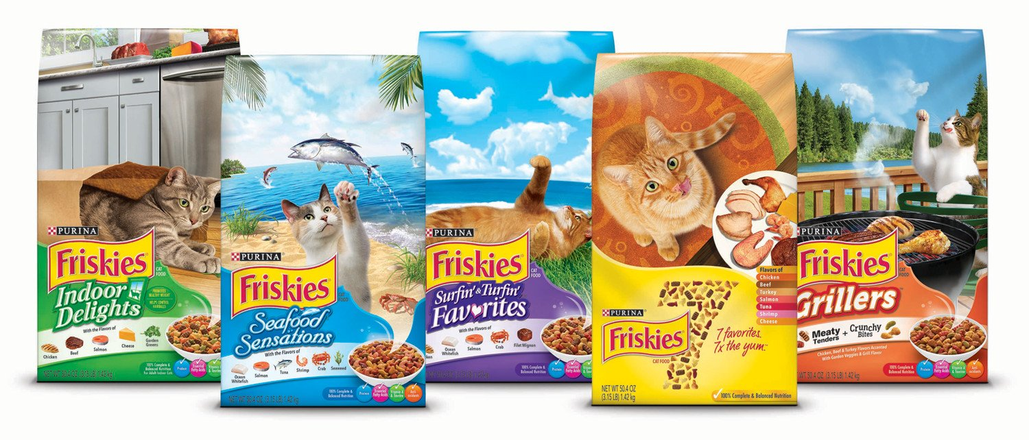 Purina Friskies Surfin' & Turfin' Favorites Adult Dry Cat Food, 459g