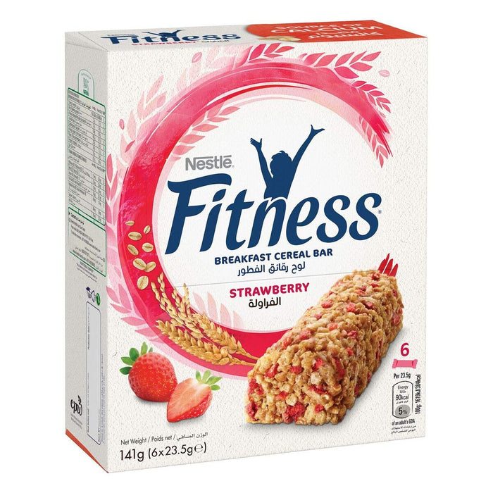 Nestle Fitness Strawberry Cereal Bar 23.5g (6 Bars) - Talabac