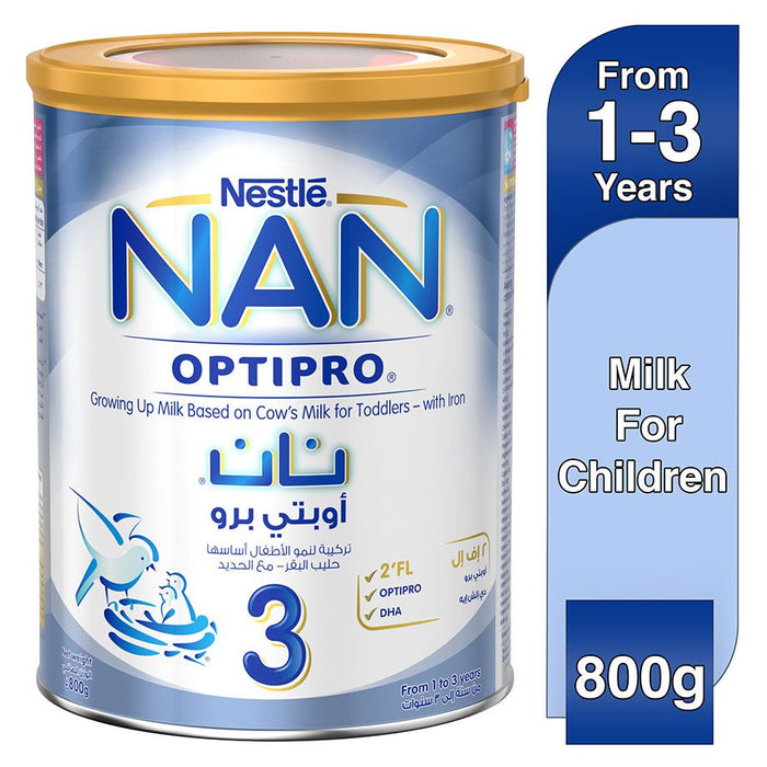Nestle Nan 3 Optipro Growing Up Milk - 800g Tin - Talabac