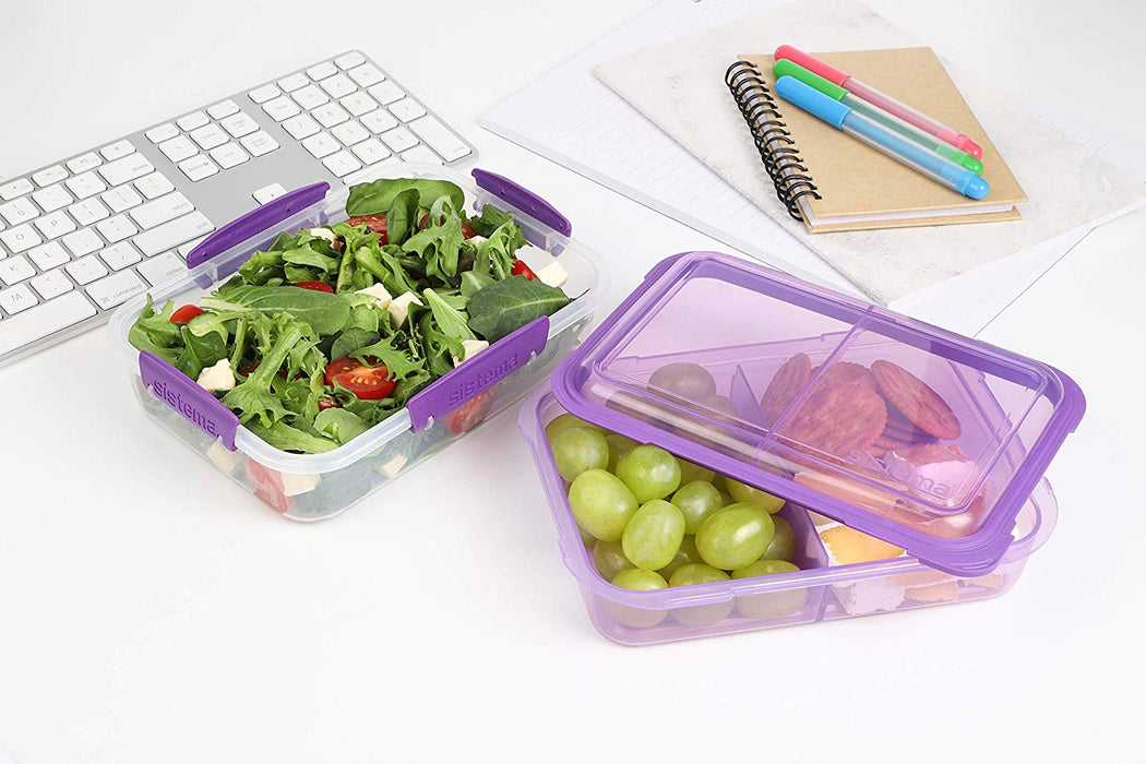 Sistema 1.8L Lunch Stack to Go Rectangle - Pink - Talabac