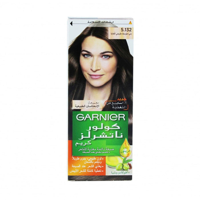 Garnier Color Naturals Hair Color Cream No. 5.132 Nude Medium Brown