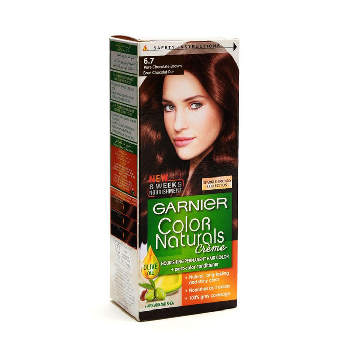 Garnier Color Naturals Creme 6.7 Pure Chocolate Brown