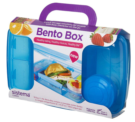 Sistema Lunch Collection Bento Box for Food Storage 1.76 liter, Blue - Talabac