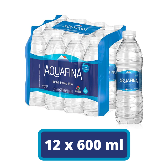 Aquafina Bottled Drinking Water, 12 x 500 ml