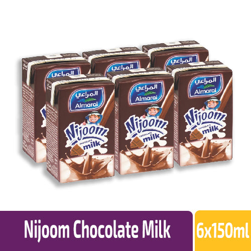 Al Marai Nijoom Chocolate Flavoured Milk X 6