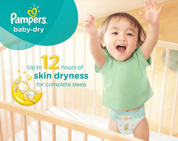 Pampers baby-dry Size 3, 4-9 kg, 66 Count (Made in Britain) - Talabac