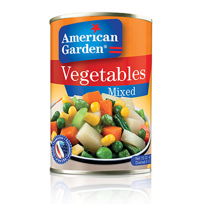 American Garden  VEGETABLES – MIXED- 425 g - Talabac