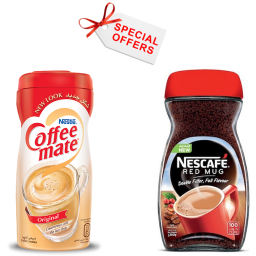 Nescafe Red Mug 200g + Coffee Mate 400g - OFFER - Talabac