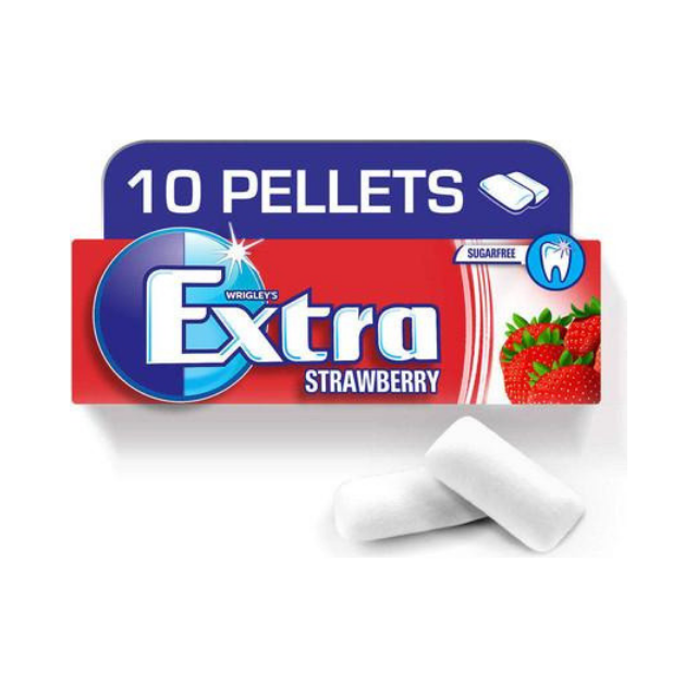 Extra gum Strawberry - 10 per pack - Talabac