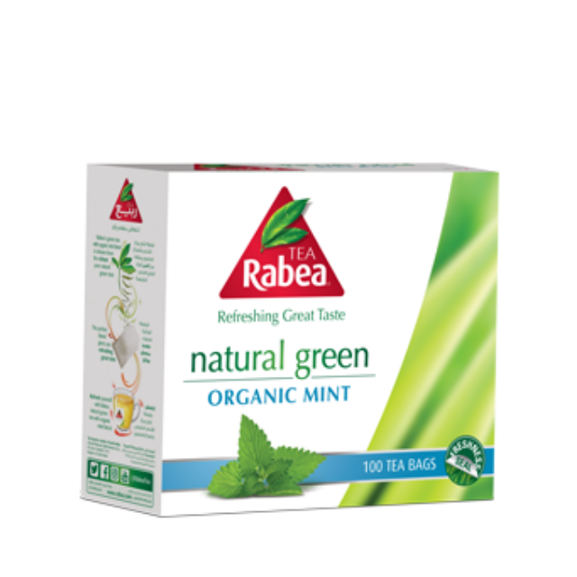 Al Rabea Green Tea Bags with mint -  100s - Talabac