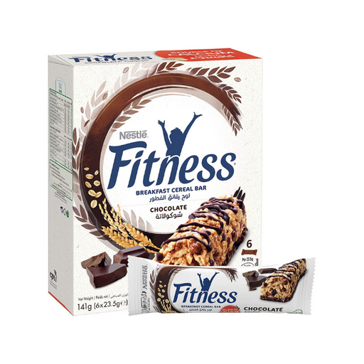 Nestle Fitness Chocolate Breakfast Cereal Bar (6 Bars)