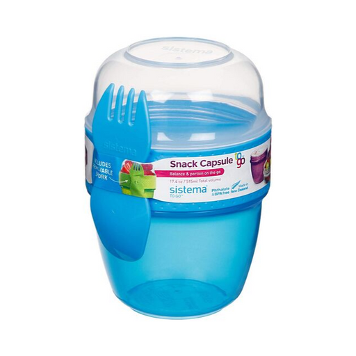 Sistema Snack Capsule To Go 515ml Blue - Talabac