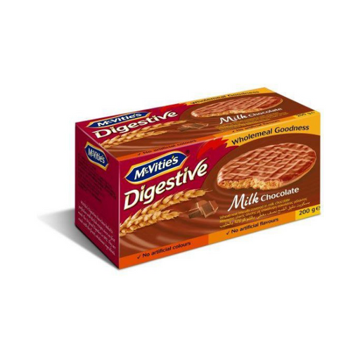 McVitie's Digestive Wheatmeal Milk Chocolate Biscuit - 200gm