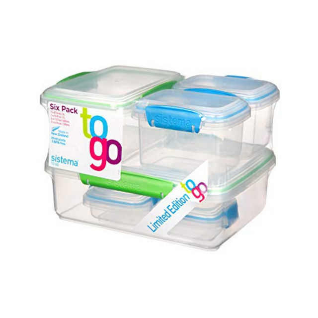 Sistema To Go 6 Pack, 2 x 200ml, 2 x 400ml, 1L, 2L - Talabac