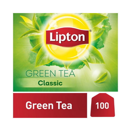 Lipton Pure & Light Green Tea Bags, 100 Pieces - Talabac