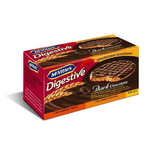 McVitie's Digestive Wheatmeal Dark Chocolate Biscuit - 200gm