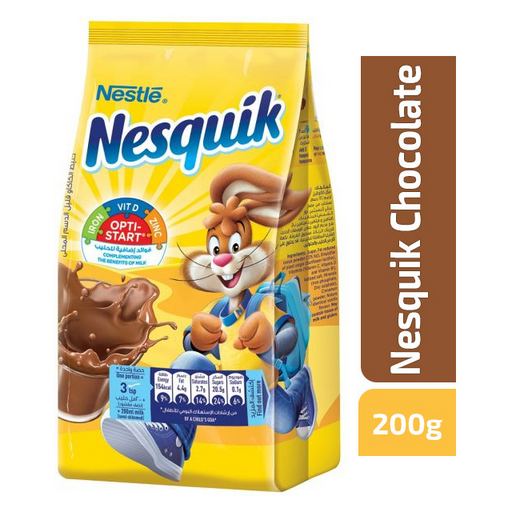 Nestle Nesquik Opti Start Chocolate Powder Milk - 200g - Talabac