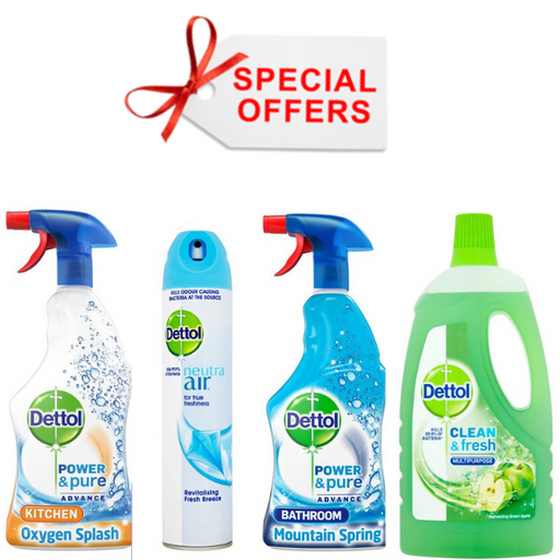 Dettol Special offer 4 pcs (Made in Britain).