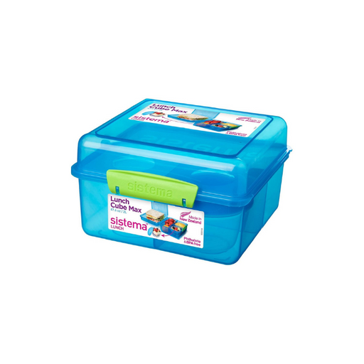 Sistema Lunch Cube Max with Yoghurt Pot, 2 L