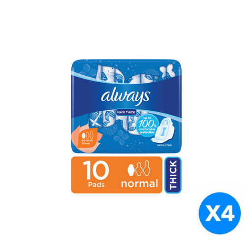 ALWAYS maxi thick sanitary pads, 40 ct - of 4 Pieces