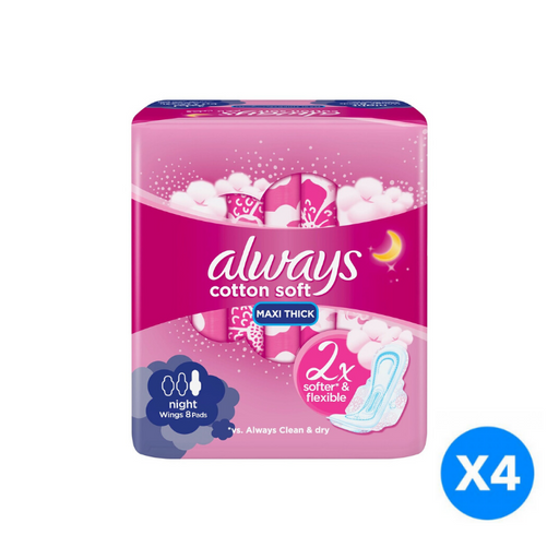 Always Soft Maxi Thick Night Sanitary Pads 32 Count