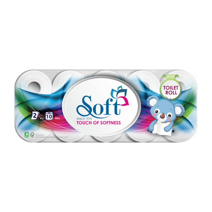 Soft - Toilet paper 10 rolls 2ply 2000 sheet