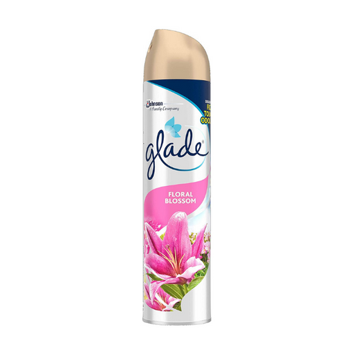 Glade Aerosol Floral Blossom Air Freshener 300ml (Made in Britain).