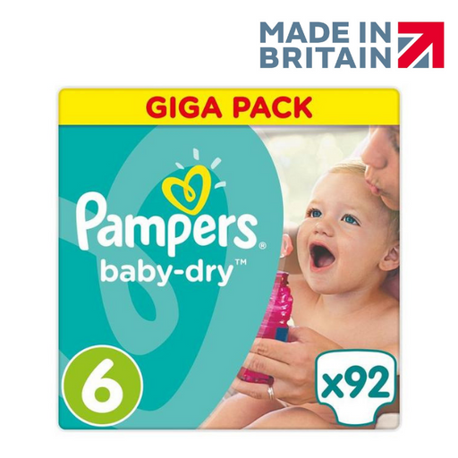 Pampers Active Baby Jumbo Pack, Size 6 92 Diapers (Made in Britain).