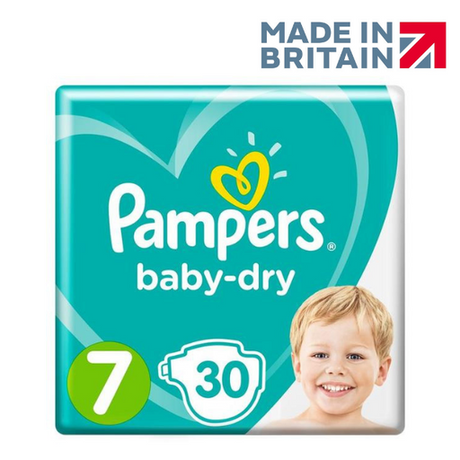 Pampers Active Baby Jumbo Pack, Size 7 30 Diapers 15+ Kg (Made in Britain).