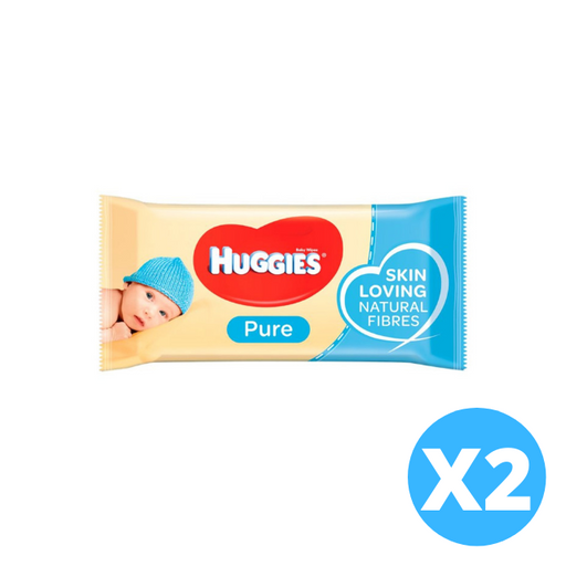Huggies Pure Baby Wipes 56 per pack X 2 pieces (made in the Britain)