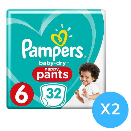 Pampers Baby Dry Pants Size 6, 64 per pack 15+ Kg