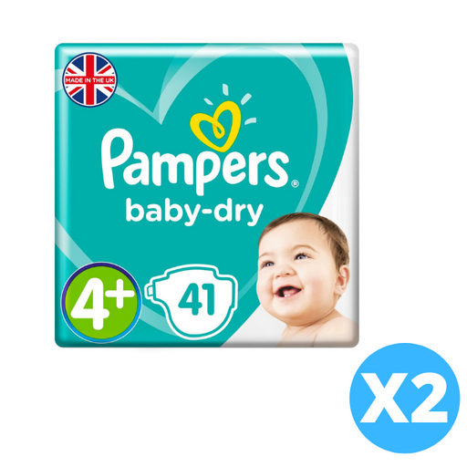 Pampers Active Baby Dry Diapers, Size 4+, Mega Pack 9-15 kg, 82 Count