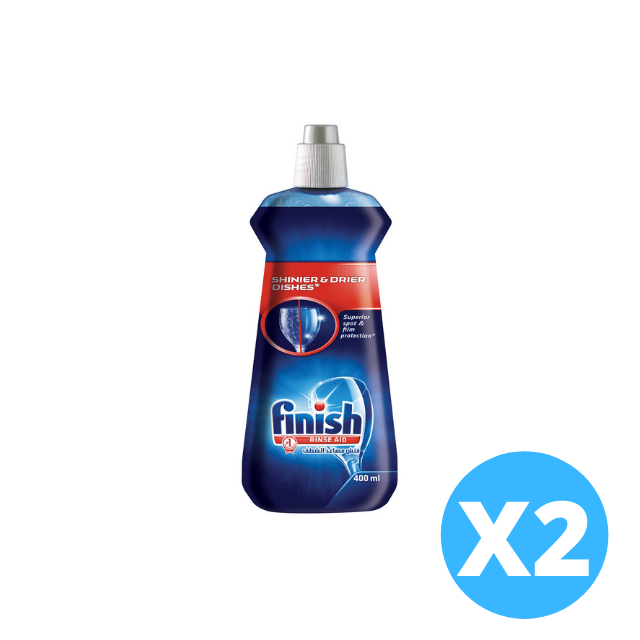 Finish Rinse Aid Shines & Dries 400ml X 2 pieces