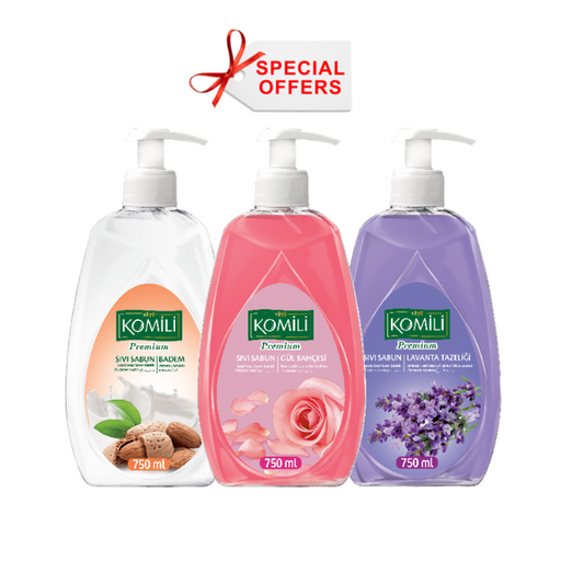Komili - Offer - Hand-wash X 3 Piece 750 ml (Made in Turkey).