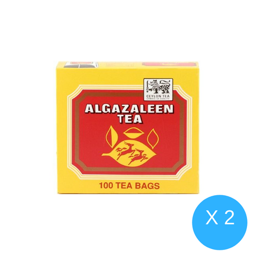 Al Ghazaleen Flavoured Black Tea Bags - Cardamom, 100s X 2 Packs