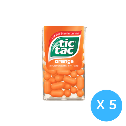 Tic Tac Bottle Pack Fresh Mint 16g X 5